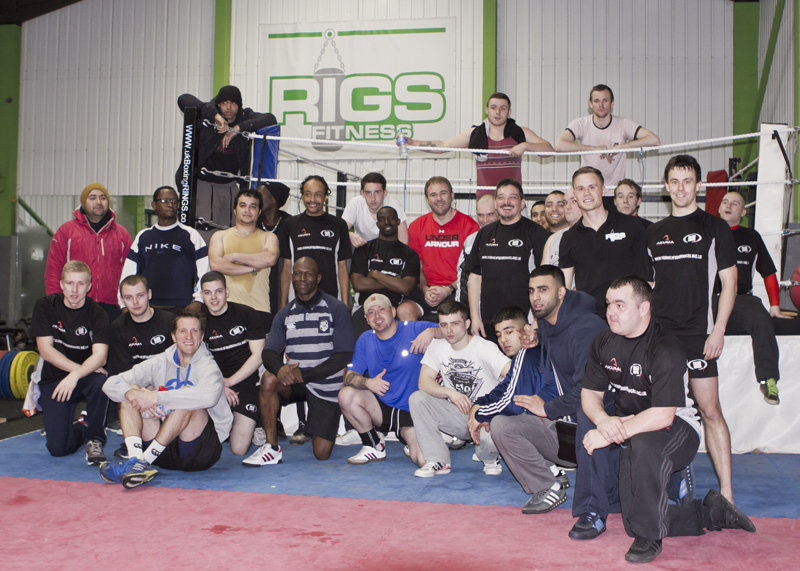 Scott Quinnell, Will Greenwood and School of Hard Knocks at Rigs FitnessScott Quinnell, Will Greenwood and School of Hard Knocks at Rigs Fitness