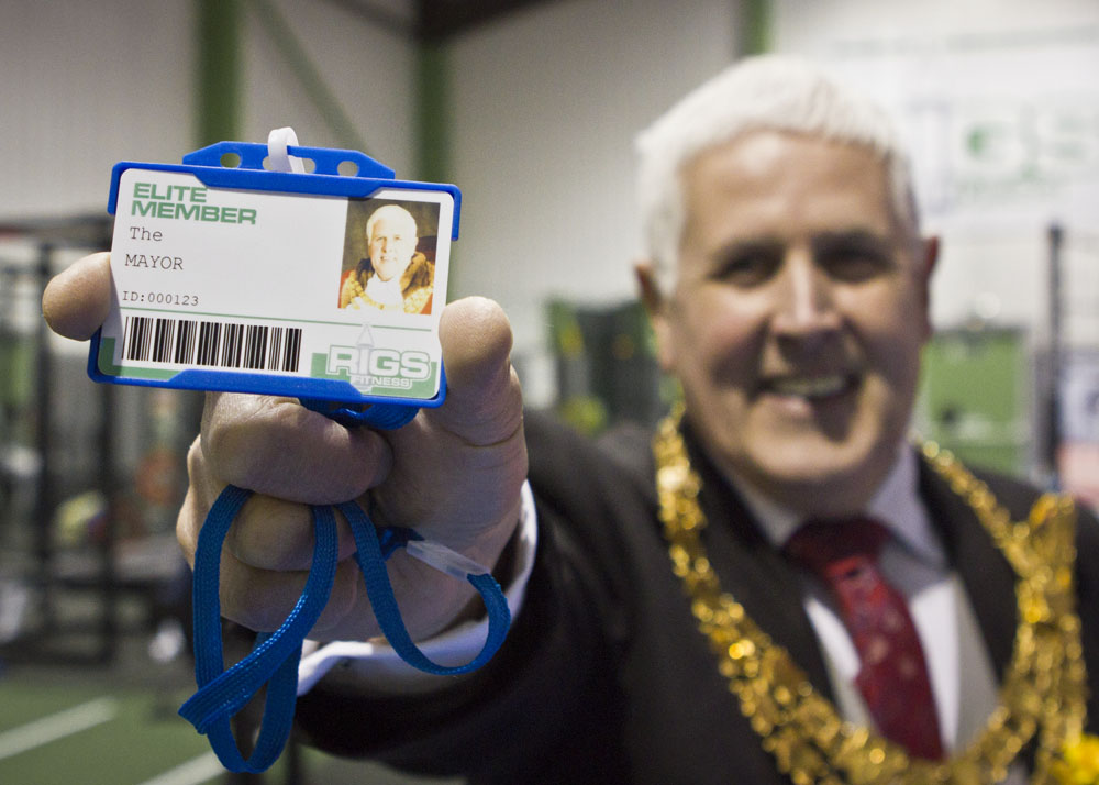 Mayor of Solihull at Rigs Fitness