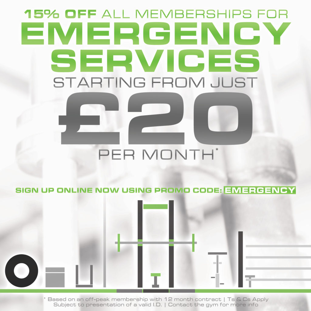 Emergency Services Gym Membership Birmingham