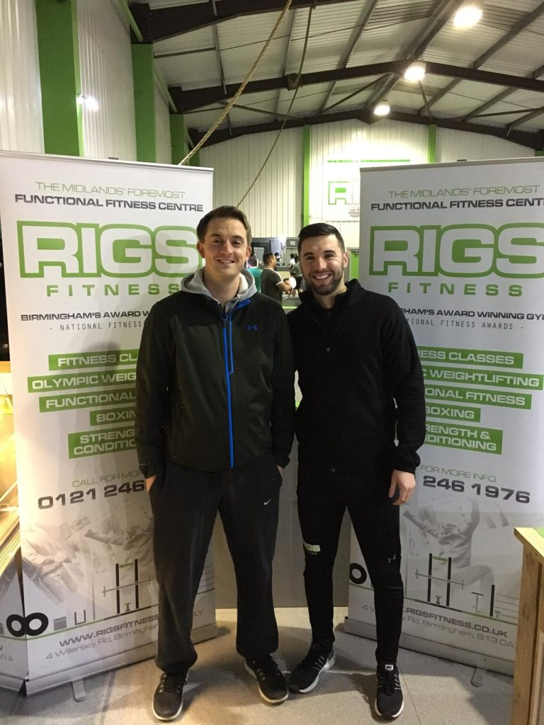 Head of Performance Josh Bridgeman with Alex Edmonstone