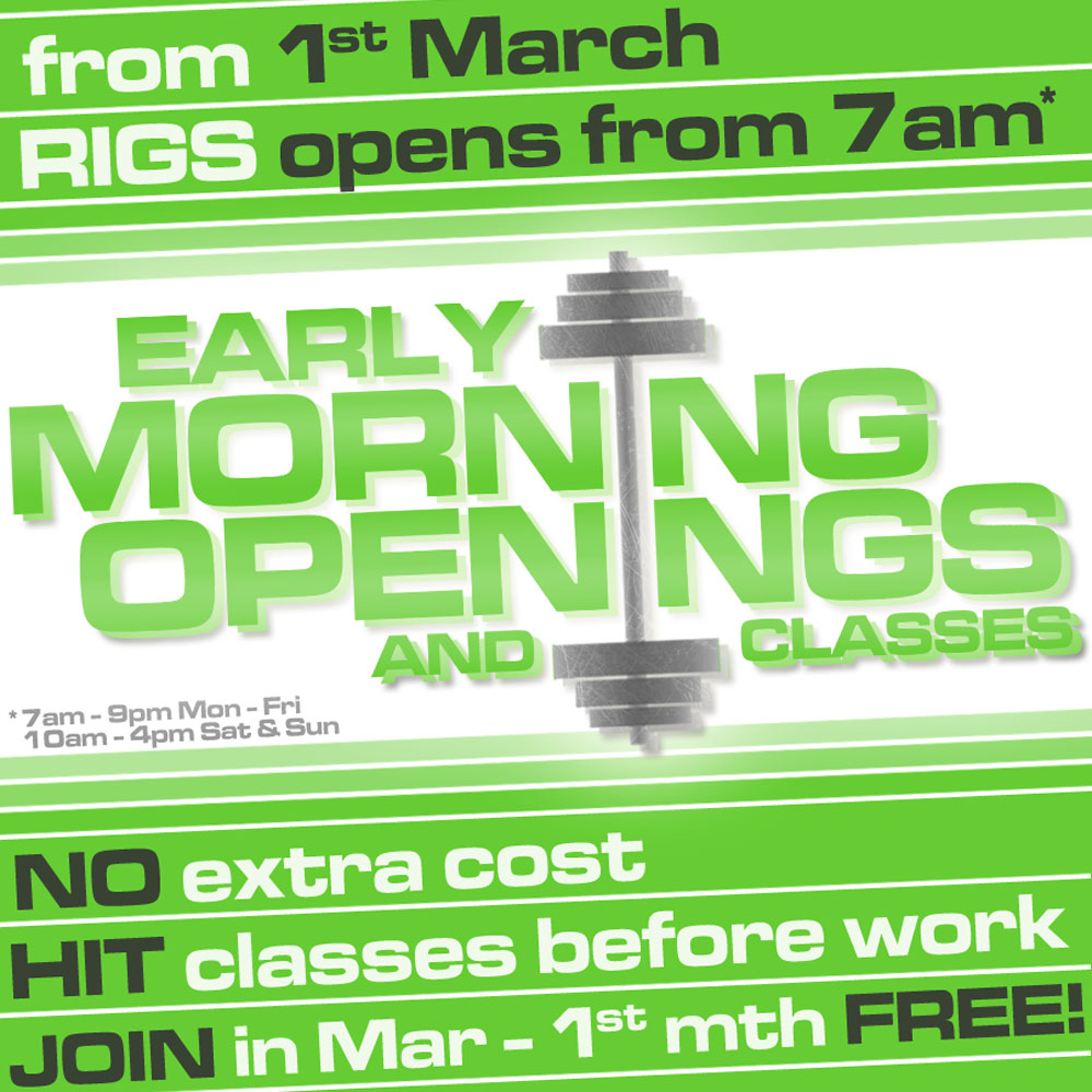 March Membership Offer Rigs Fitness