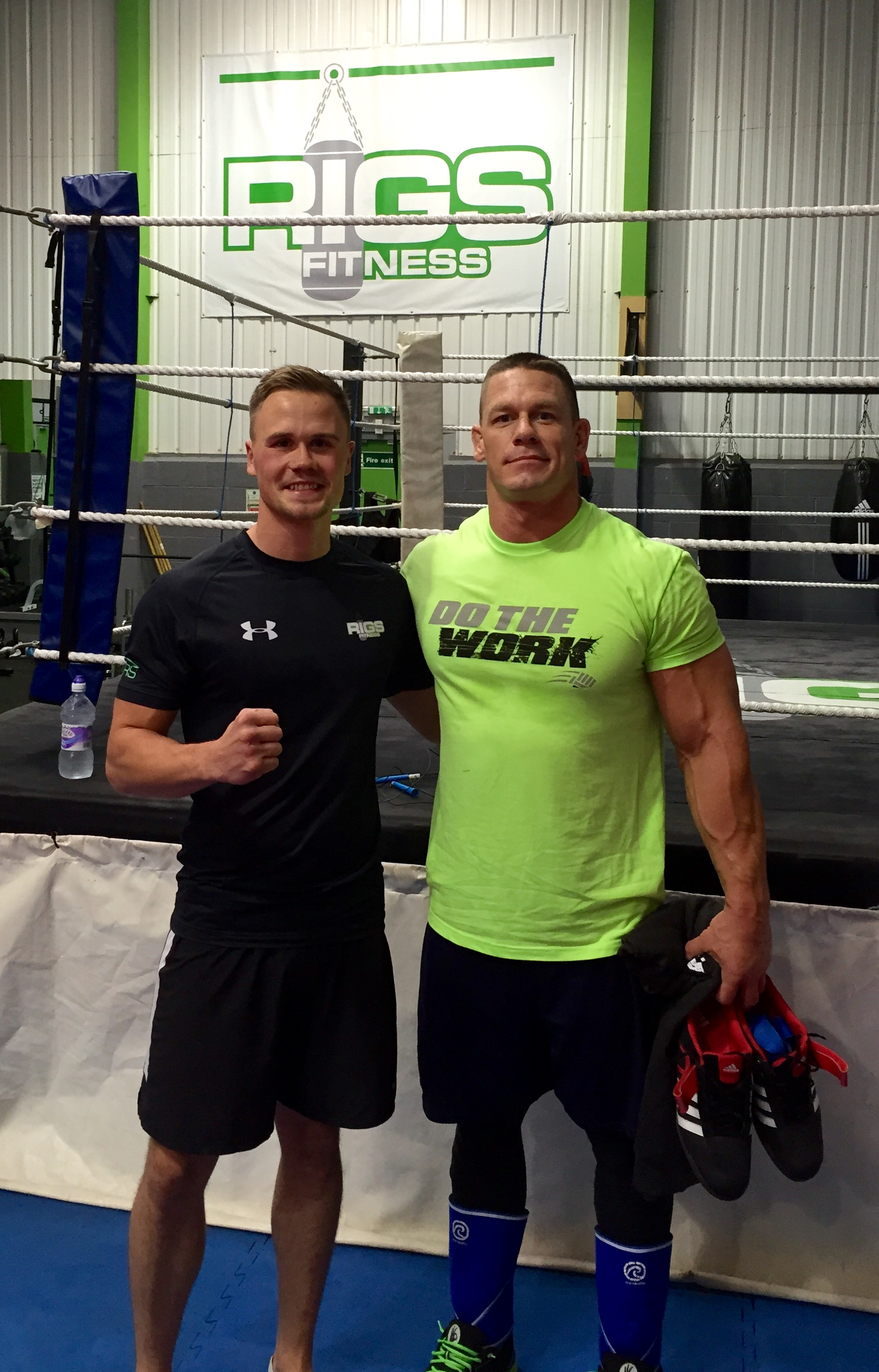 John Cena & Rigs Fitness Owner Sam Smith at the Birmingham Gym